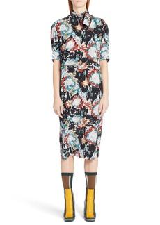 Marni Magma Print Silk Crepe Dress