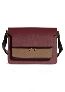 Marni Medium Trunk Colorblock Leather Shoulder Bag