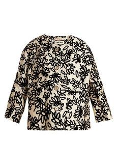 Marni Mikado floral-print faille jacket