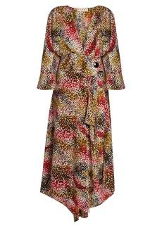 Marni Mist-print silk-crepe wrap dress