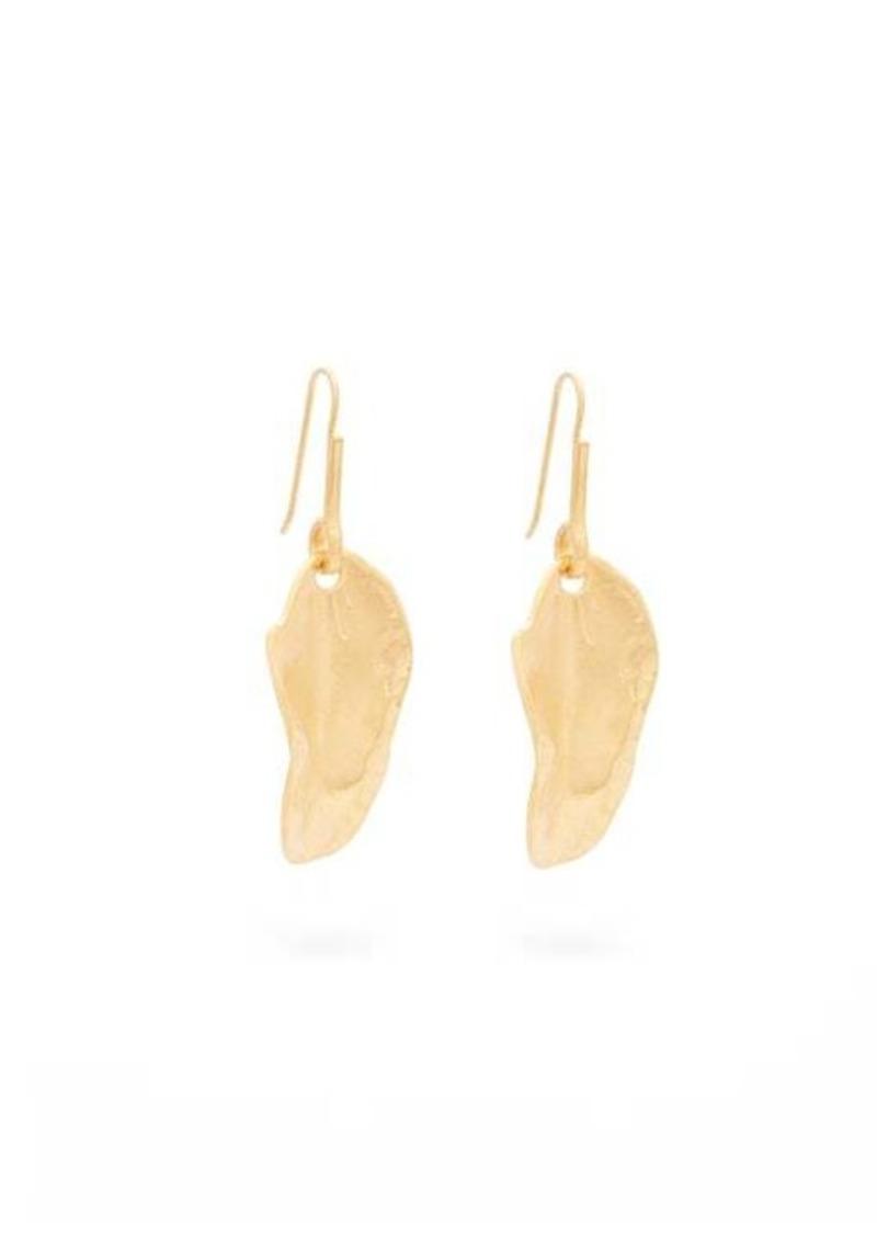Marni Nature leaf pendant earrings