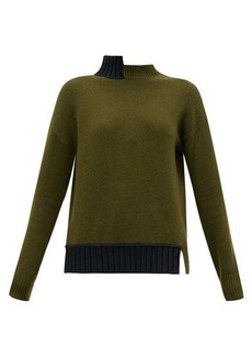 Marni Open-back stepped-collar wool-blend sweater