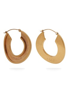 Marni Open hoop 24kt gold-plated earrings