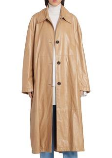 Marni Oversize Leather Coat