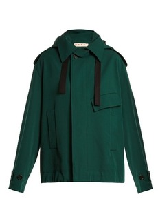 Marni Oversized bonded wool and cotton-blend coat