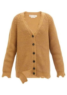 Marni Oversized distressed wool cardigan