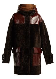 Marni Oversized hooded shearling coat