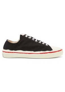 Marni Painted-sole canvas trainers