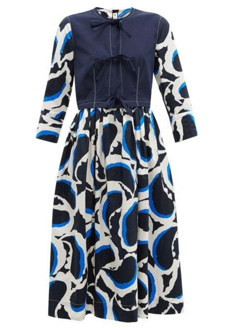 Marni Paisley-print poplin dress