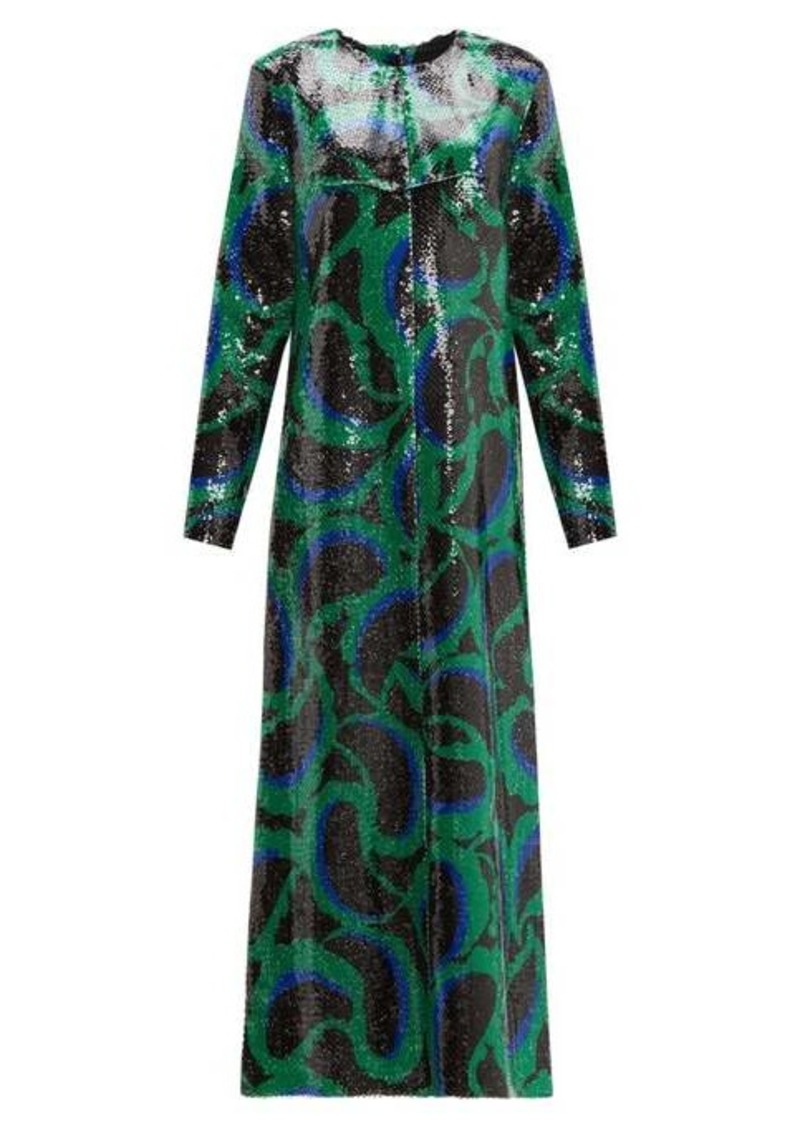 Marni Paisley sequinned dress