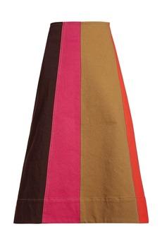 Marni Panelled denim skirt