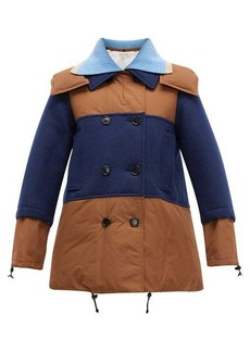 Marni Panelled wool and shell coat