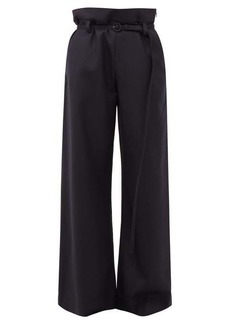 Marni Paperbag-waist flannel trousers