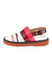 Marni Patent Double-Band Slingback Sandal