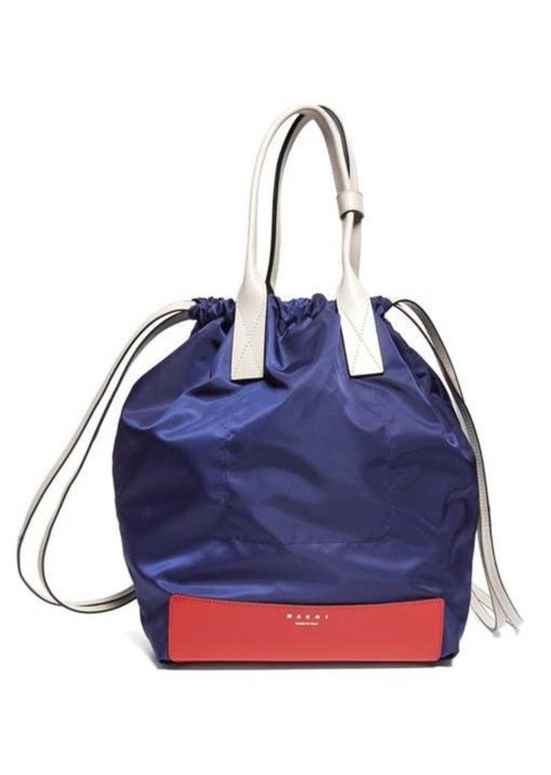 Marni Pedestal leather-trimmed backpack