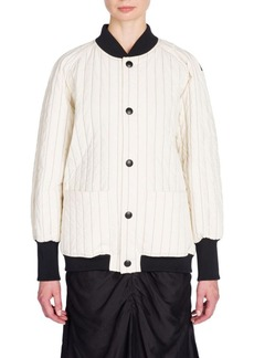 Marni Pinstripe Quilted Bomber Jacket