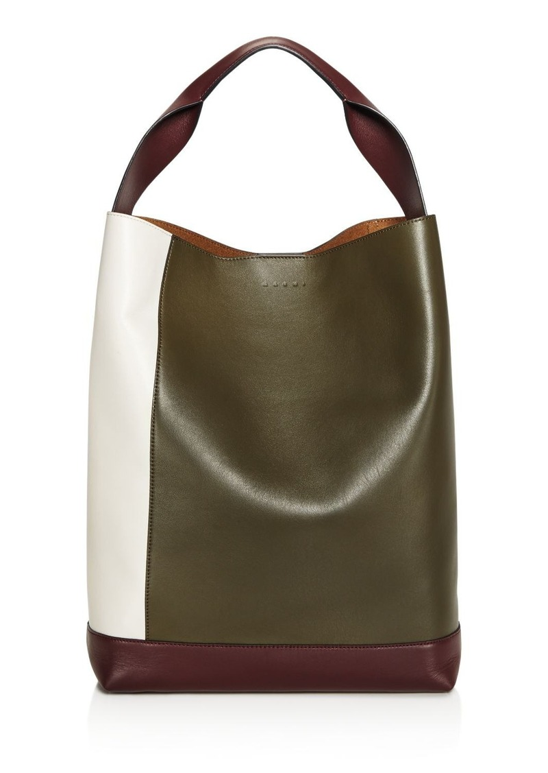 Marni Pod Color Block Leather Tote