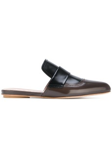 Marni pointed toe flat mules - Brown