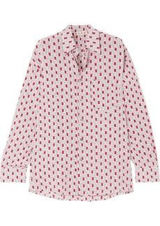 Marni Printed Silk Crepe De Chine Shirt