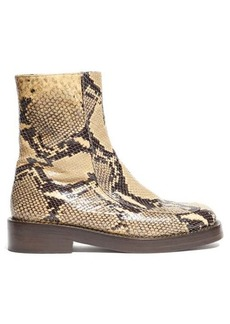 Marni Python-effect leather boots