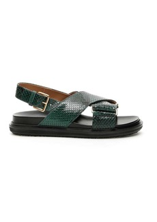Marni Python Printed Fussbett Sandals
