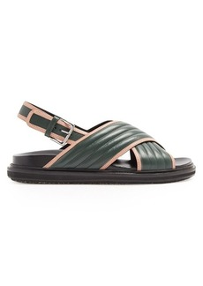 Marni Quilted-leather cross-strap sandals