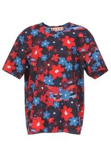 Marni Rainbow Flower-print cotton-jersey T-shirt