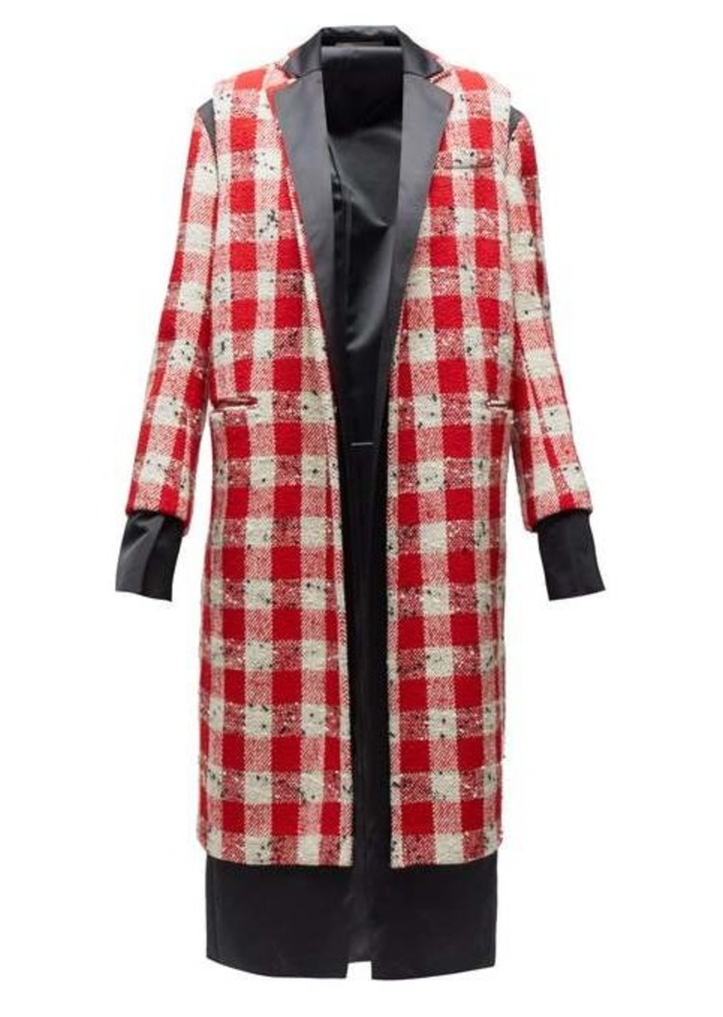 Marni Checked wool-blend bouclé coat
