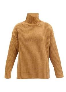Marni Roll-neck ribbed wool sweater