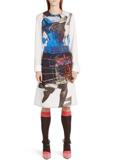 Marni Sally Smart Print A-Line Dress