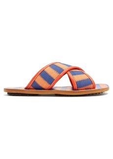 Marni Samsy crossover striped-woven slides