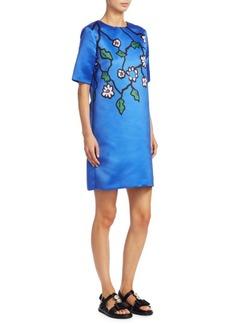 Marni Satin Floral Dress