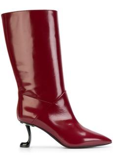 Marni sculptural calf boots - Red