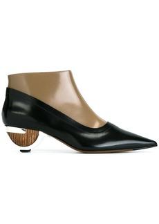 Marni sculptural heel booties - Black
