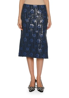 Marni Sequined Flowerbed Pencil Skirt
