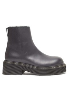 Marni Shearling-lined platform leather boots