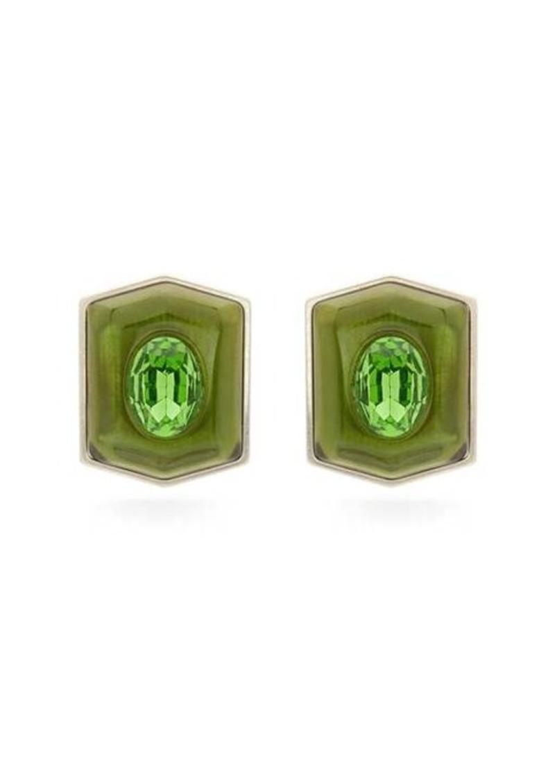 Marni Shield crystal earrings