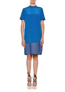 Marni Short-Sleeve Floral-Print Dress