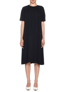 Marni Short-Sleeve Pleated Dress