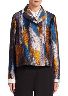 Marni Silk Feather Print Jacket