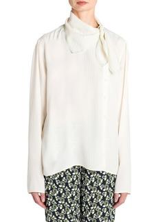 Marni Tie Neck Pullover Blouse
