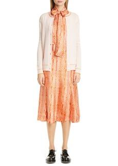 Marni Silk Twill A-Line Skirt