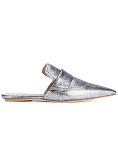 Marni Silver Leather Rising Sabot mules