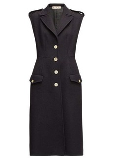 Marni Sleeveless single-breasted wool-twill coat