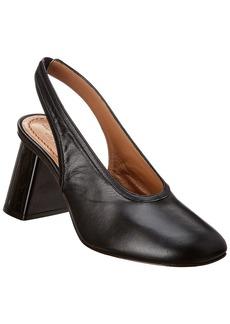 Marni Slanted Heel Leather Slingback Pump