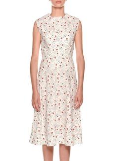 Marni Sleeveless Poppy-Print Dress