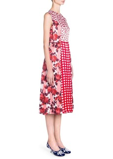 Marni Sleeveless Printed Patchwork Dress