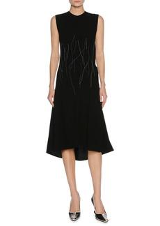 Marni Sleeveless Stitch-Detail Midi Dress