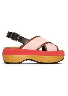 Marni Slingback neoprene flatform sandals