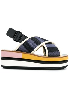Marni slingback wedge sandals - Multicolour